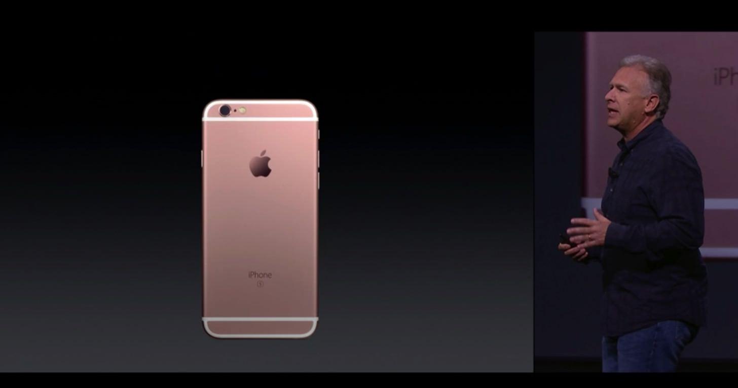 iPhone 6s / 6s Plusの新色ローズゴールド。
