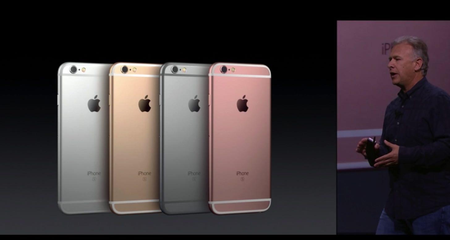 iPhone 6s / 6s Plusのカラーバリエーション。