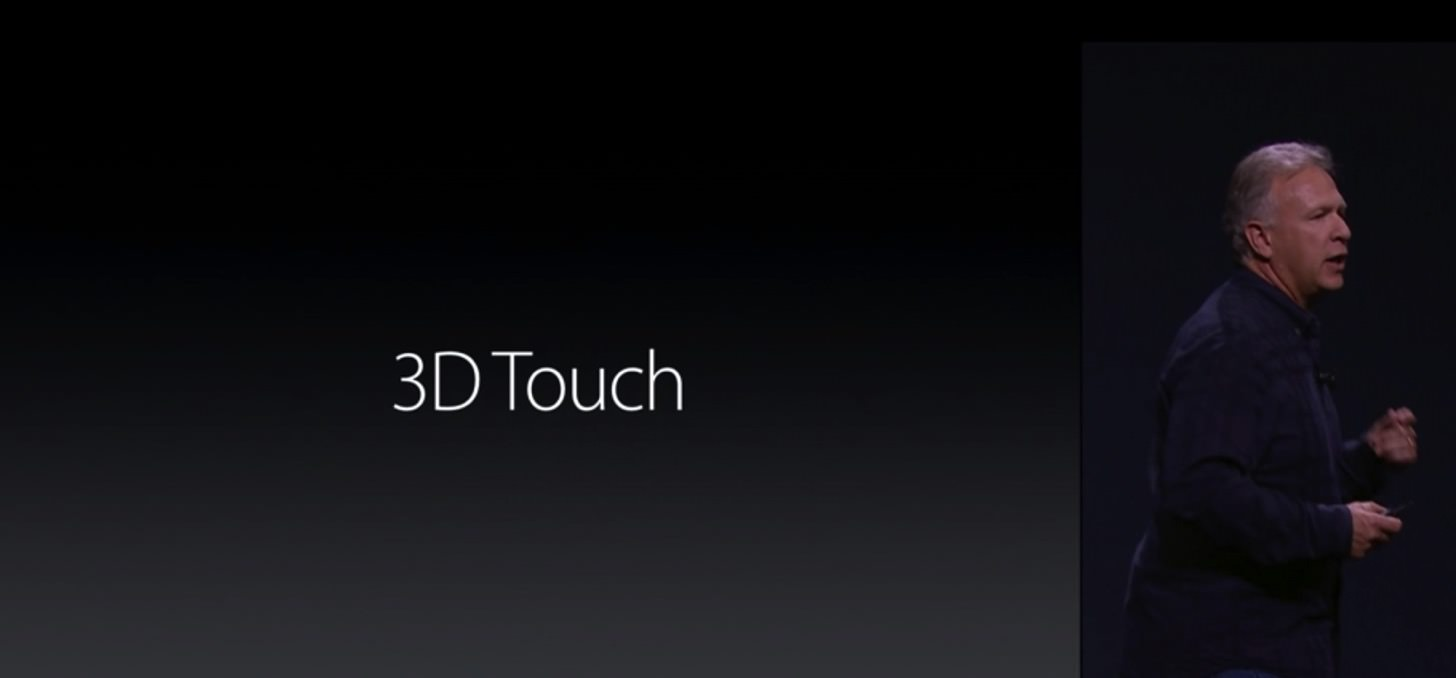 iPhone 6sの3D Touchディスプレイ