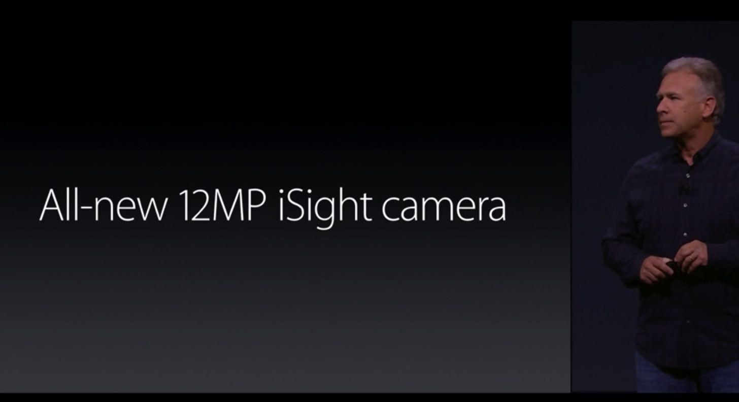 iPhone 6sのカメラは1200万画素