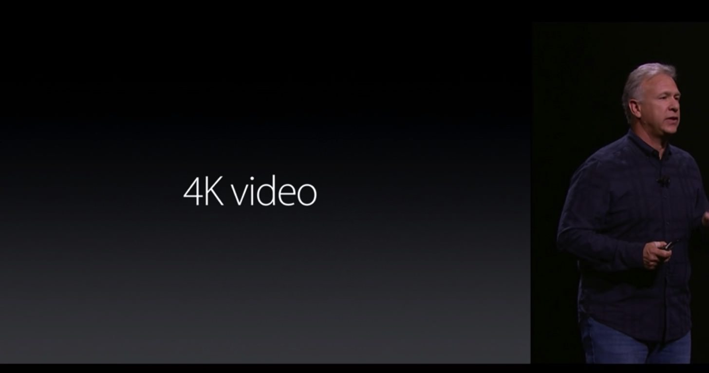 iPhone 6sの4Kビデオ