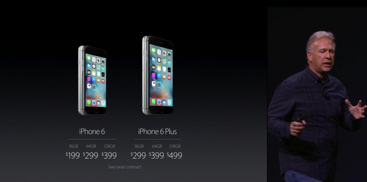 iPhone 6の価格。