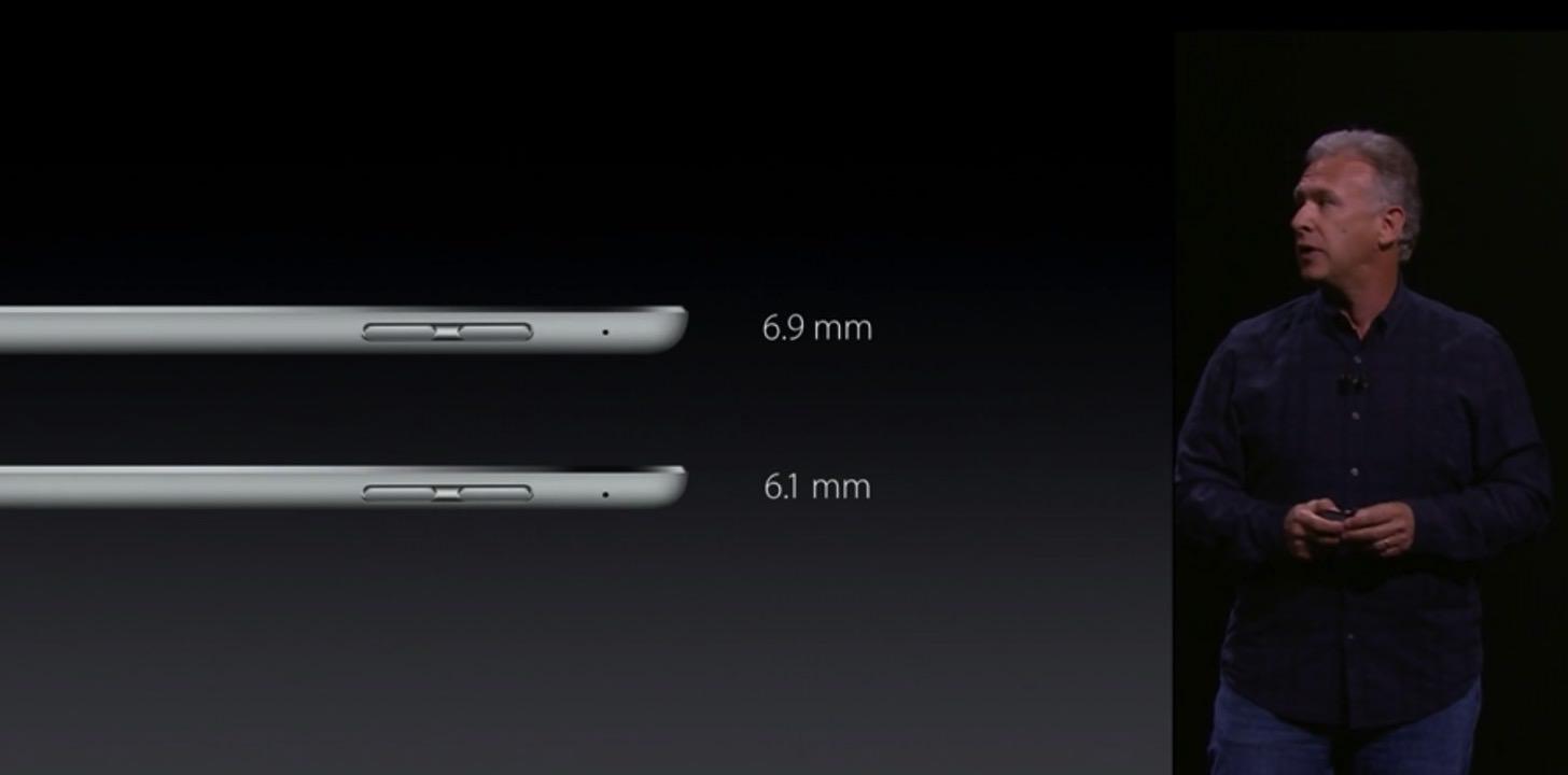 iPad Airと比べてもほとんど変わらない厚さ