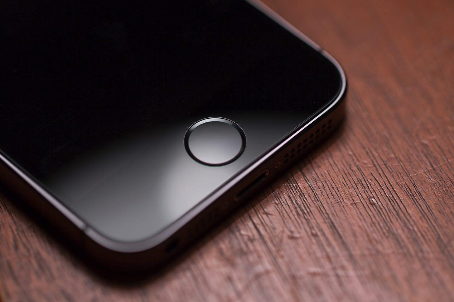 iPhoneのホームボタン。
