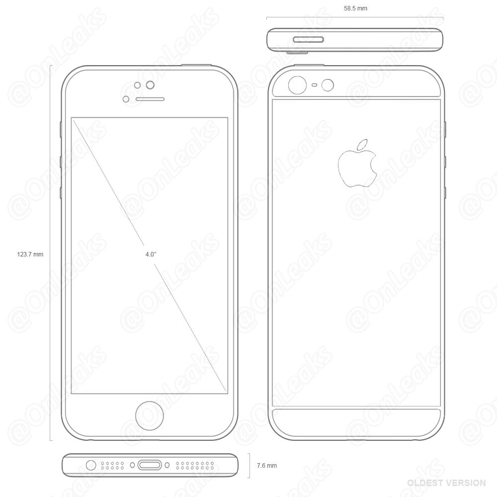 iPhone 5seの図面