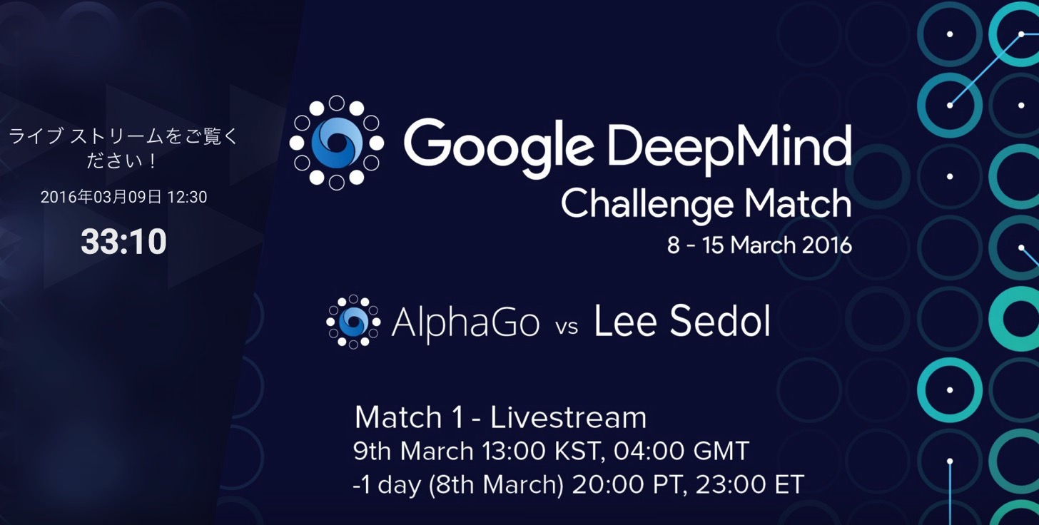 Google DeepMind Challenge Match AlphaGo vs Lee Sedol