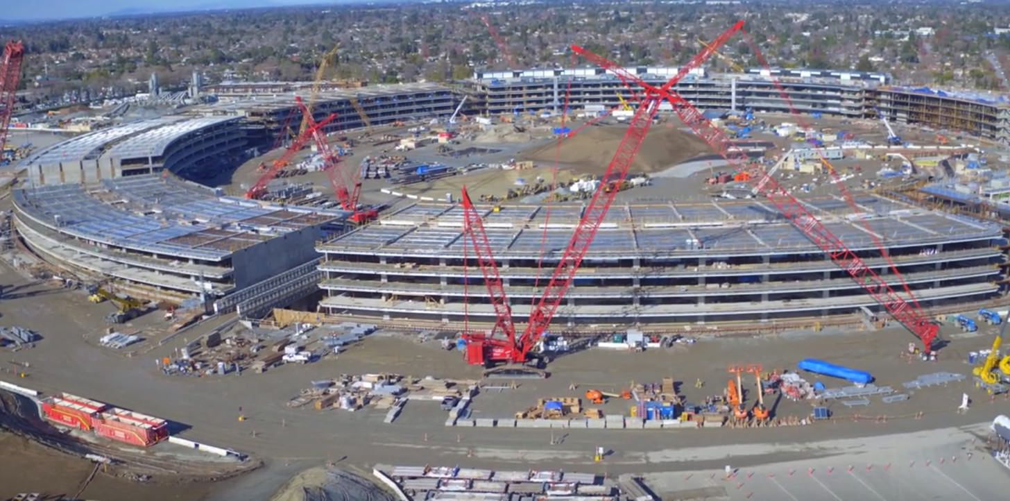 Apple campus 2 construction january 20160