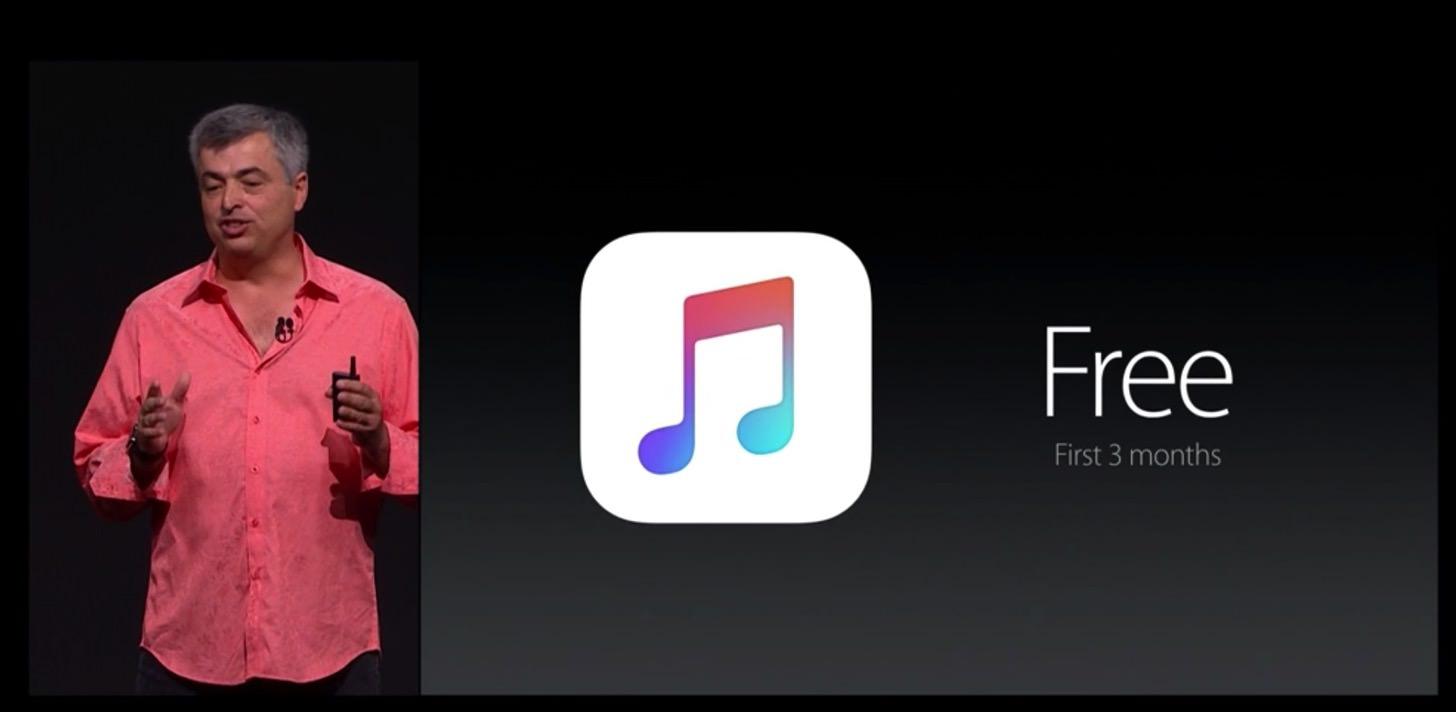 Apple musicは3ヶ月間は無料