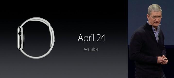 【速報】Apple Watchの発売日が2015年4月24日に決定!予約開始日は4月10日!