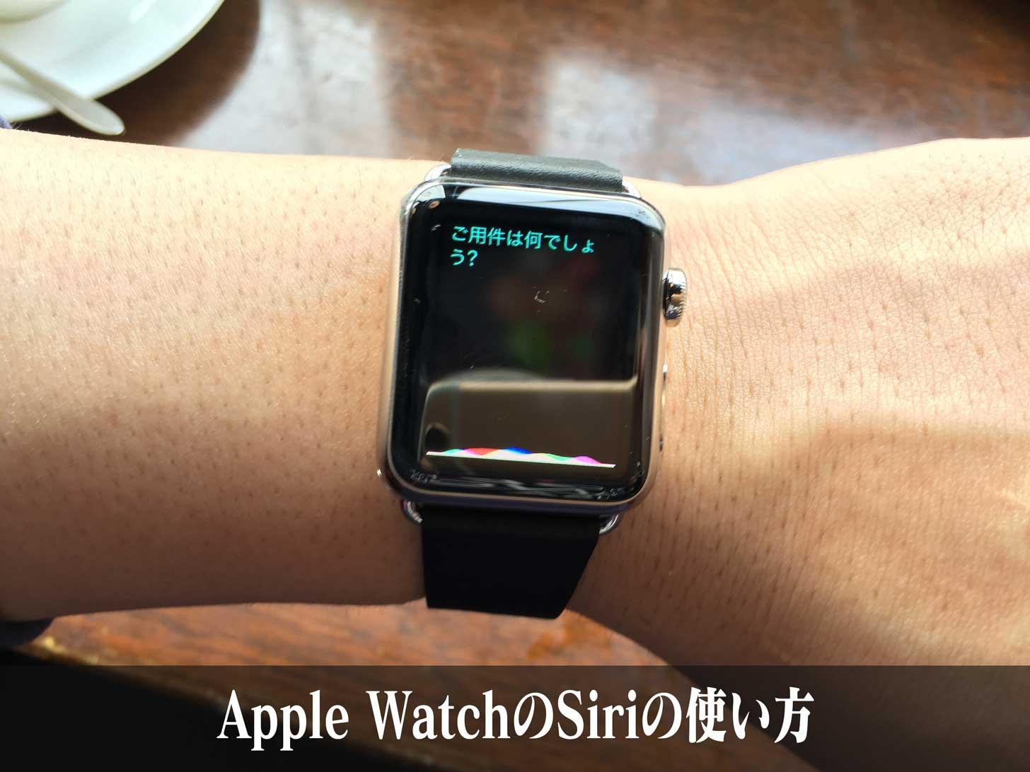 Apple WatchのSiriの使い方とHey Siriの設定方法。