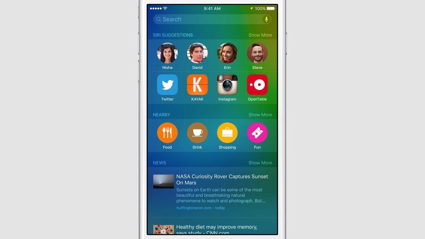 iOS9のSpotlight