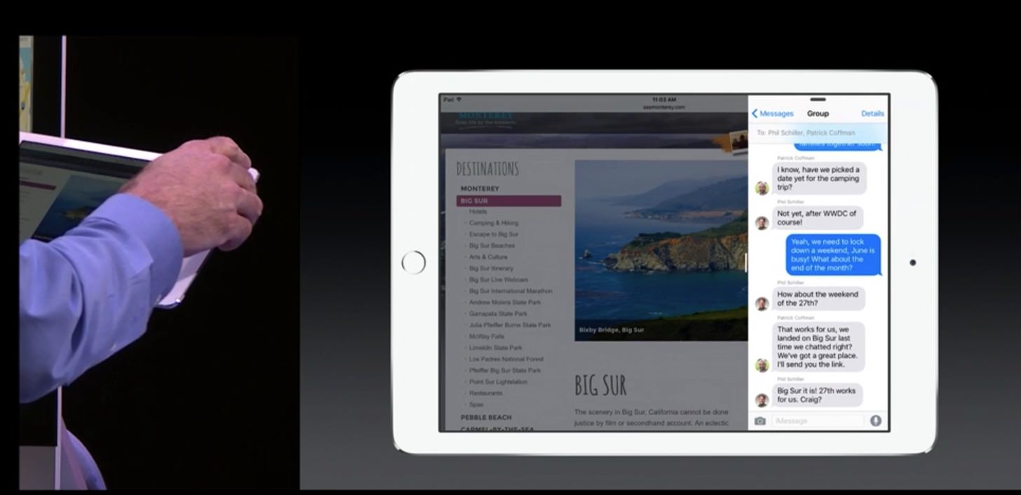 アプリを起動しながら他のアプリを操作することも可能。
