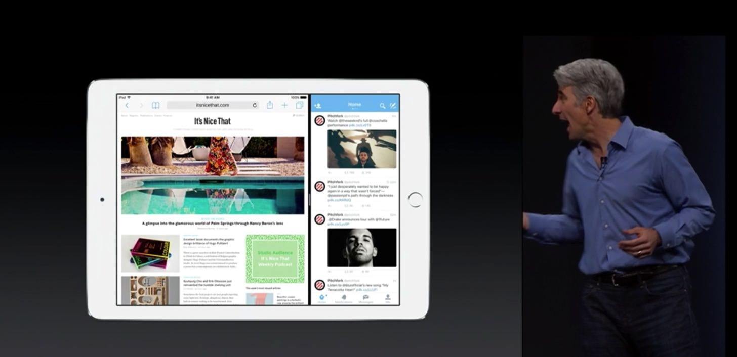iOS9のiPadのマルチタスク機能