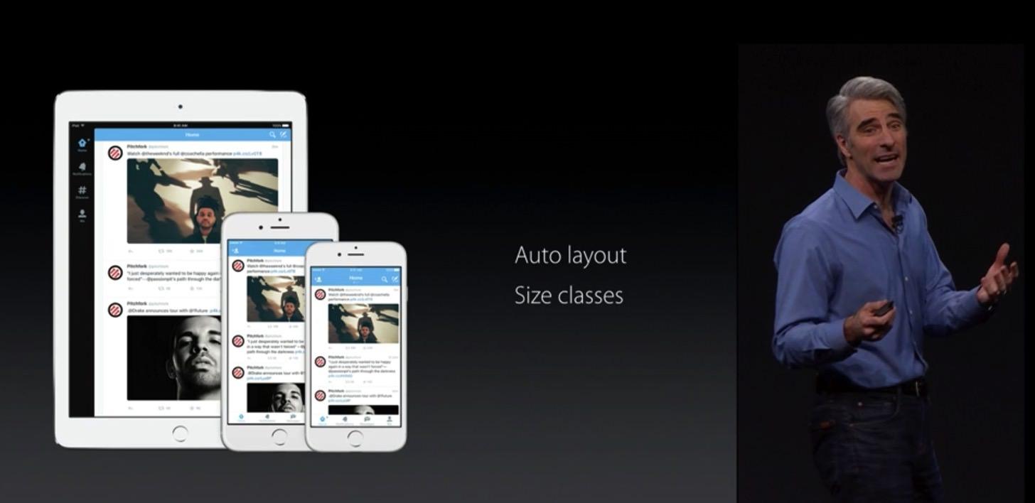 iOS9のマルチタスクに対応するなら、Auto layout、Size Classesに対応する必要があります。
