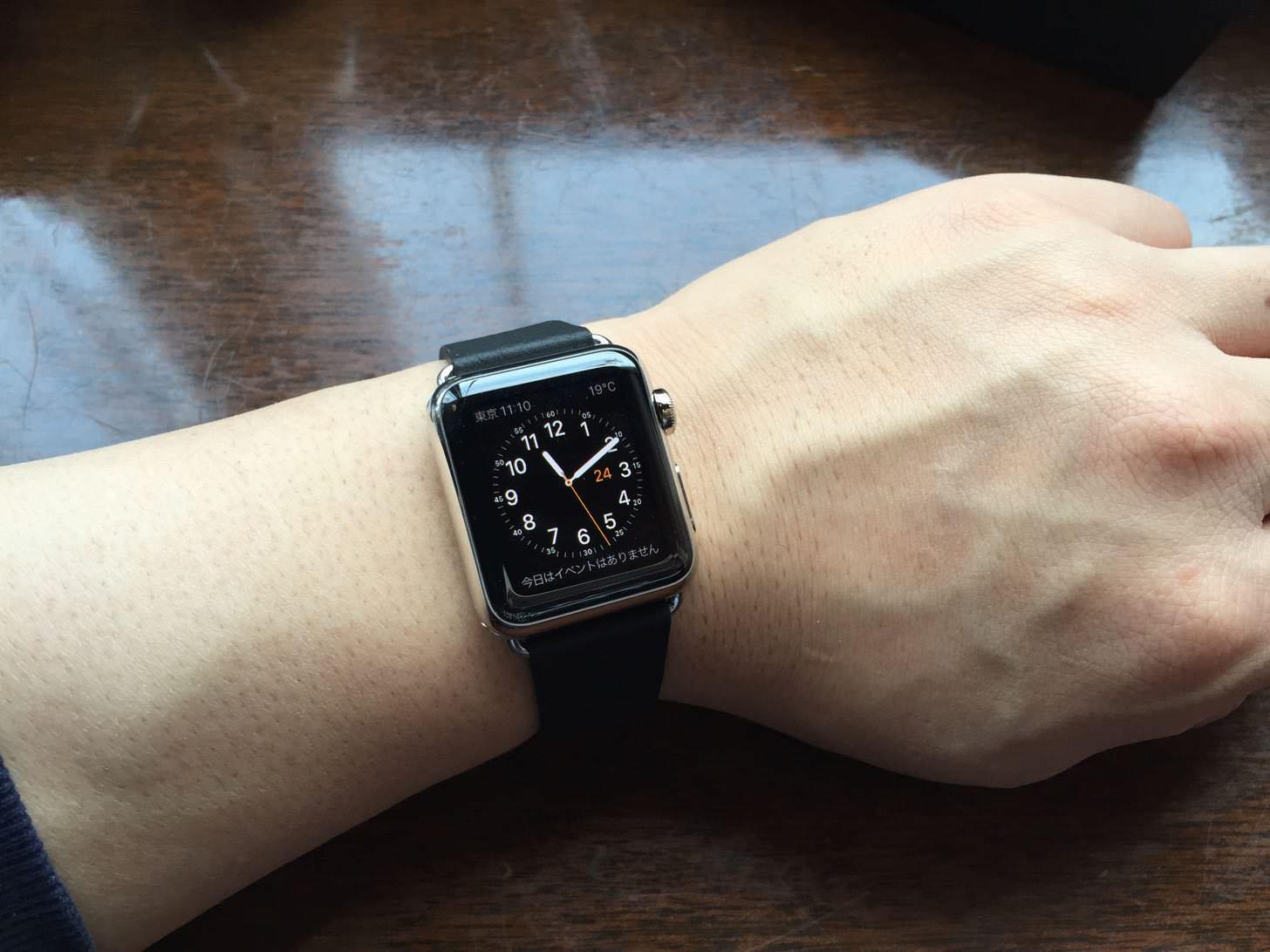Apple Watchを腕に付けてみた。