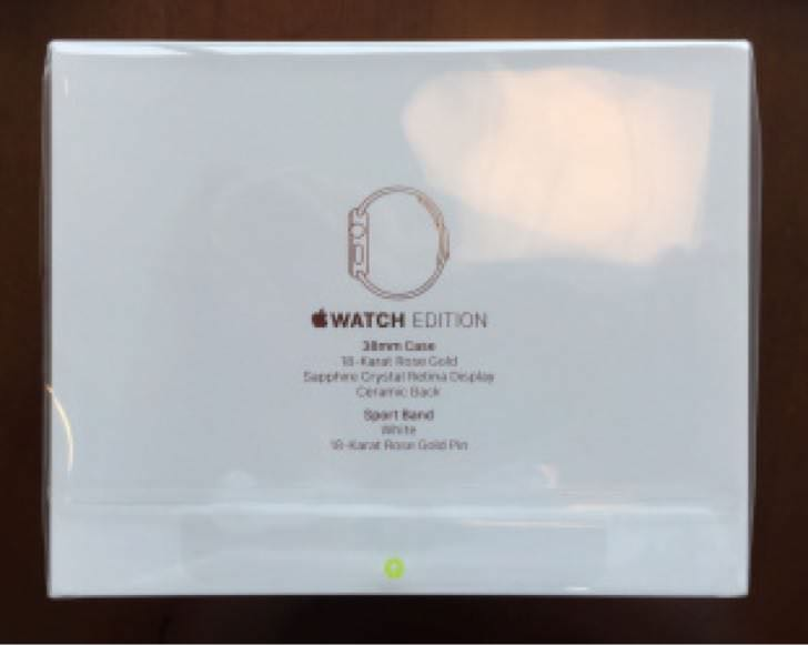 Apple Watch Editionの箱