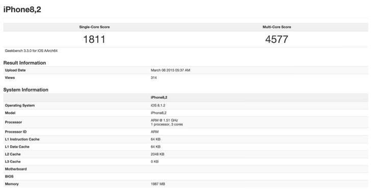 iPhone 6s Plusのスペック?