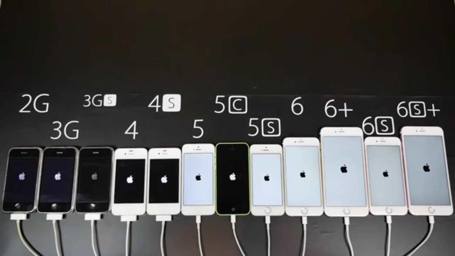 iPhone6sから初代iPhoneの起動速度