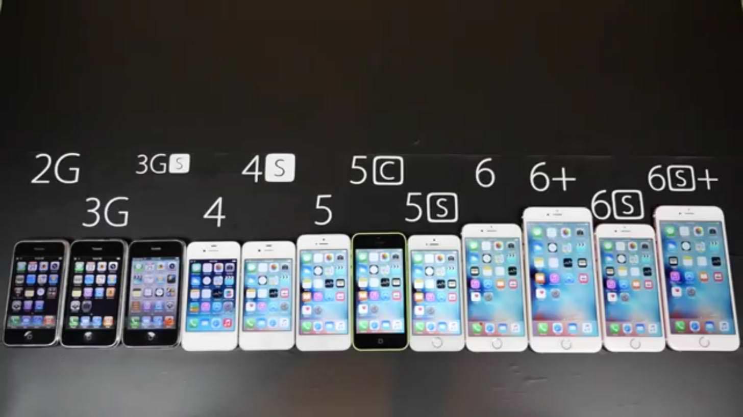 iPhone6sから初代iPhoneまで全部