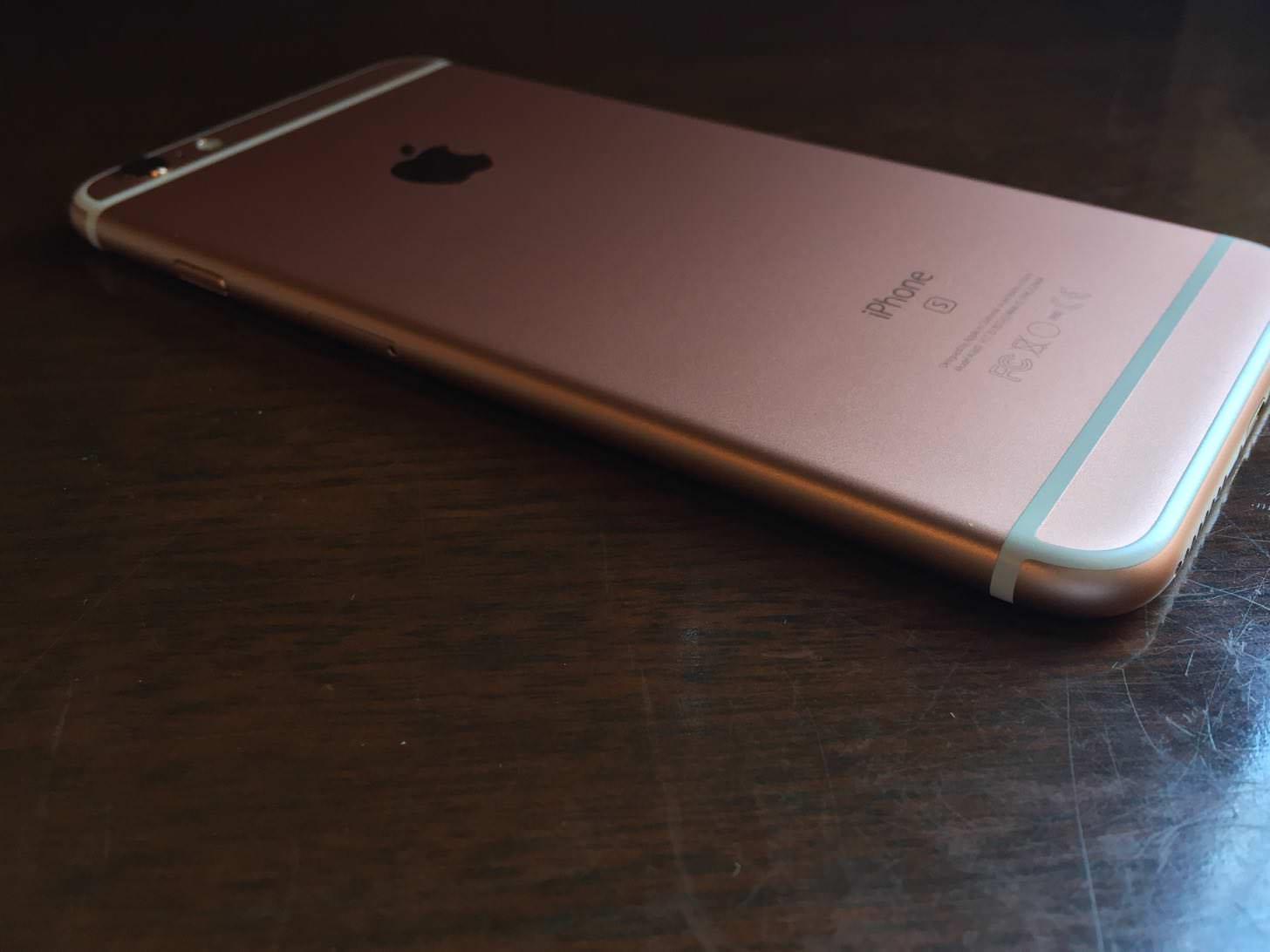 iPhone 6s Plus ローズゴールド 64GBの左サイド。