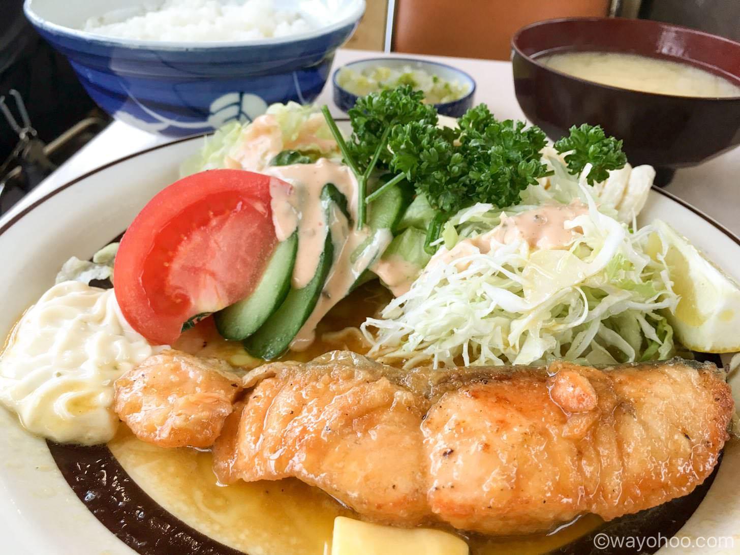 生鮭バター焼き定食