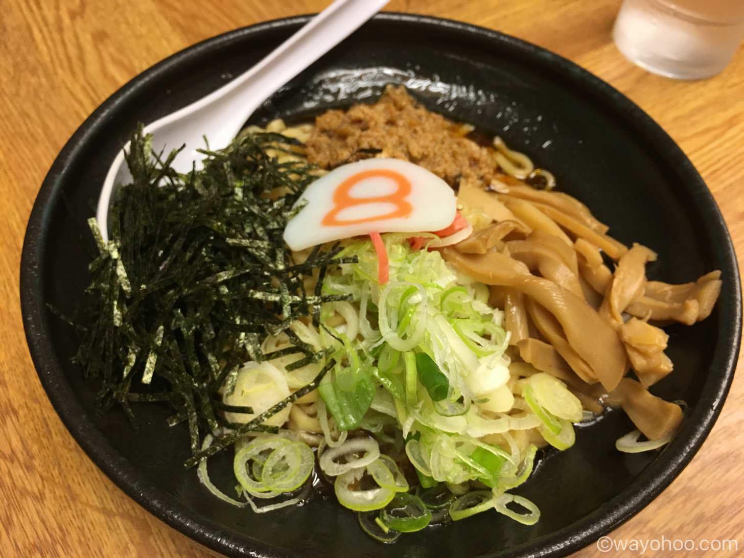 8番らーめんの唐麺