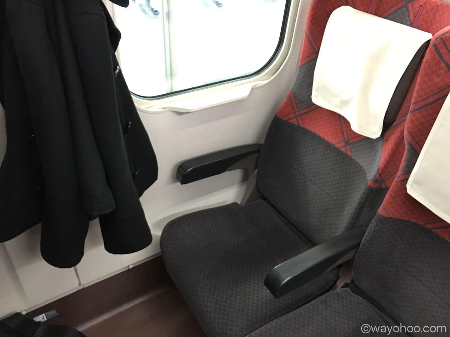 北陸新幹線 はくたか568号の自由席シート
