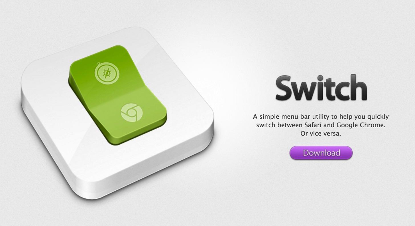 【Mac】Google Chromeで開いているページをワンクリックでSafariで開くことができるアプリ「Switch」