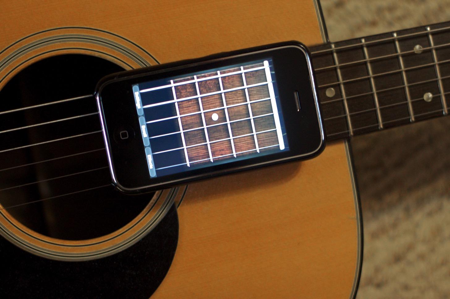iPhoneとギター