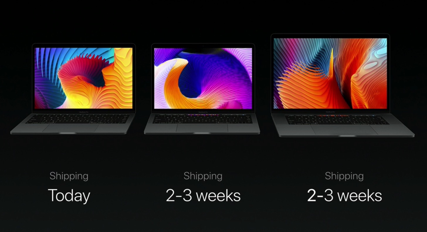 Equipped with a touch Bar the new macbook pro 13 and 15 inches in appearance hatsubai
