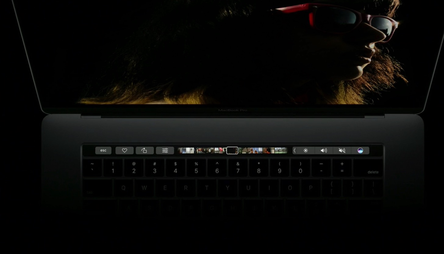 Equipped with a touch Bar the new macbook pro 13 and 15 inches in appearance17