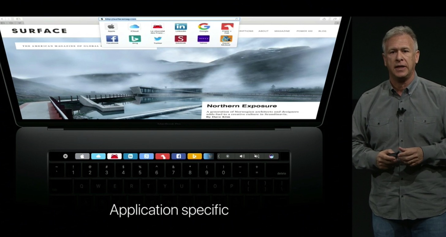 Equipped with a touch Bar the new macbook pro 13 and 15 inches in appearance18
