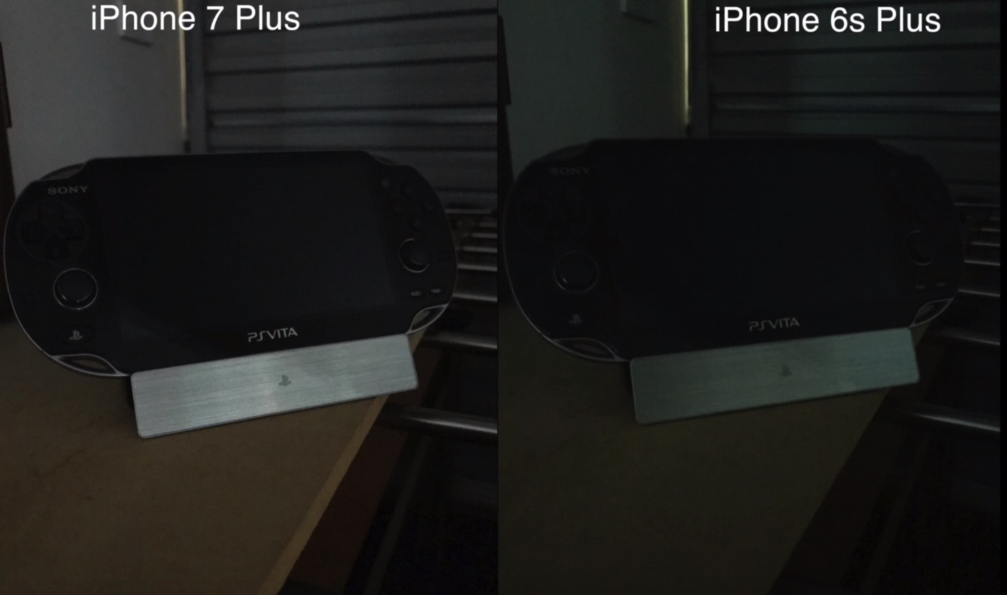 iPhone 7 PlusとiPhone 6sで撮った暗所写真の差。