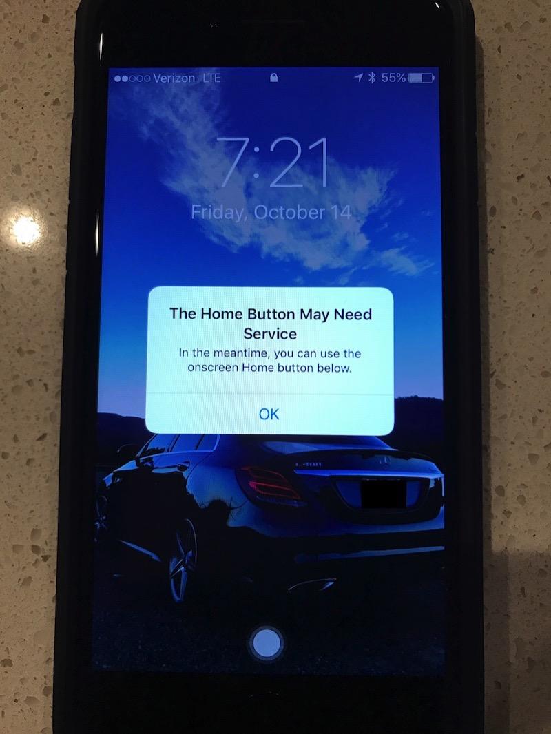iPhone 7のソフトウェア型ホームボタン。