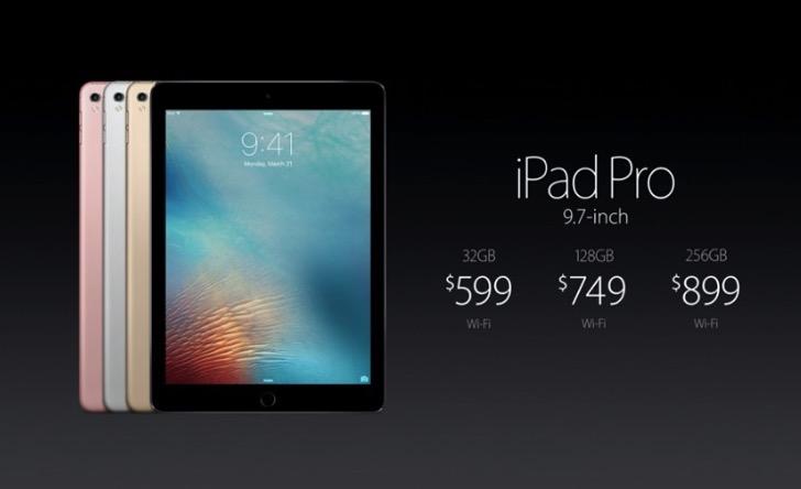 iPad Pro 9.7インチの価格は599ドル
