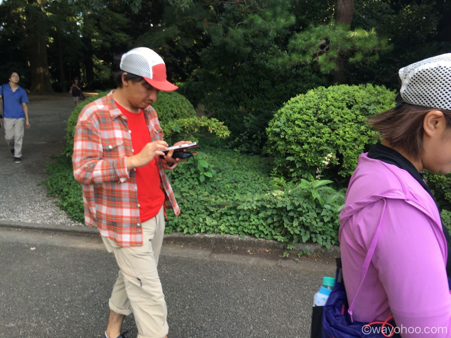 新宿御苑でポケモンGO