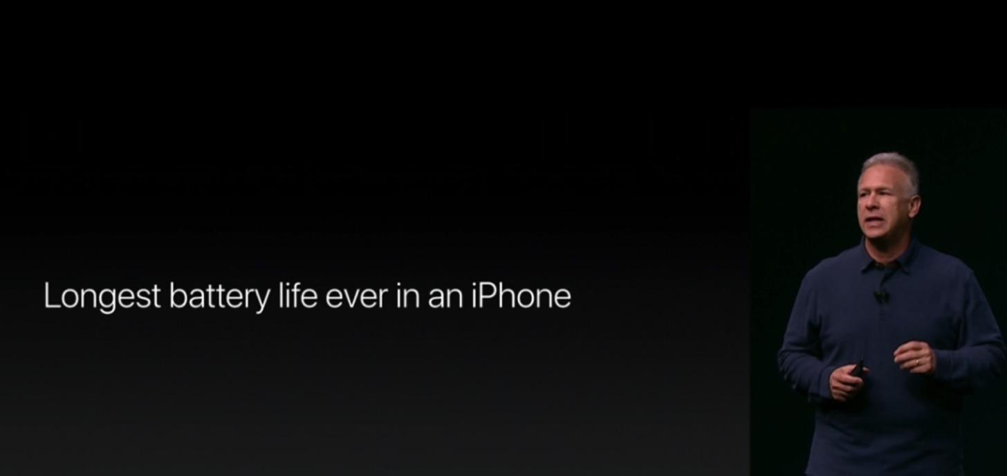 iPhone7のバッテリーはすべてのiPhoneで最も持ちがいい。