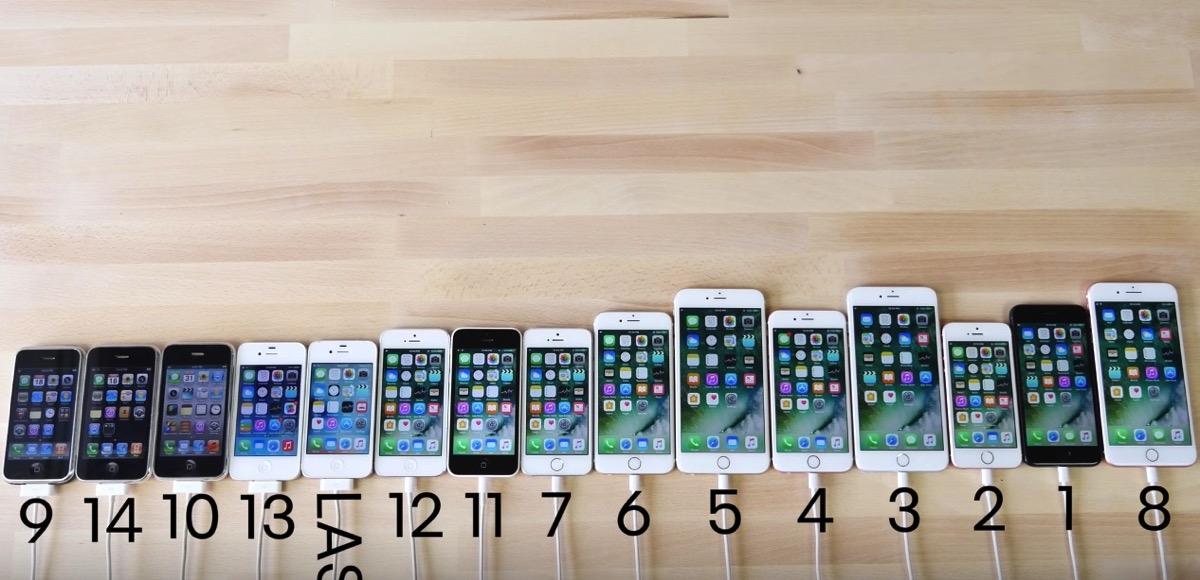歴代iPhoneの起動テスト。