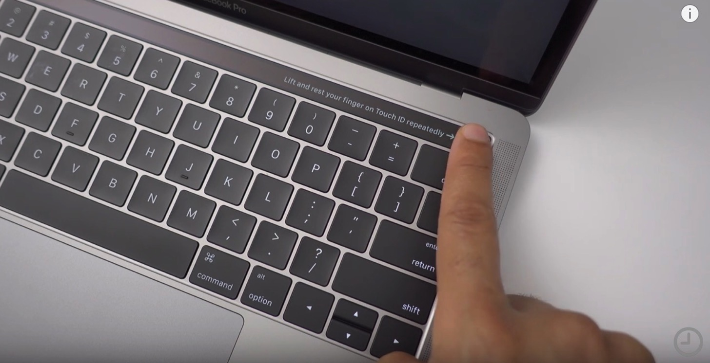 Touch bar built in macbook pro unboxing video