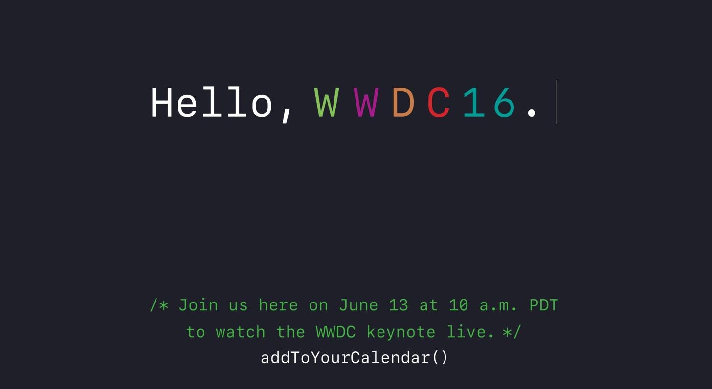 WWDC 2016 live