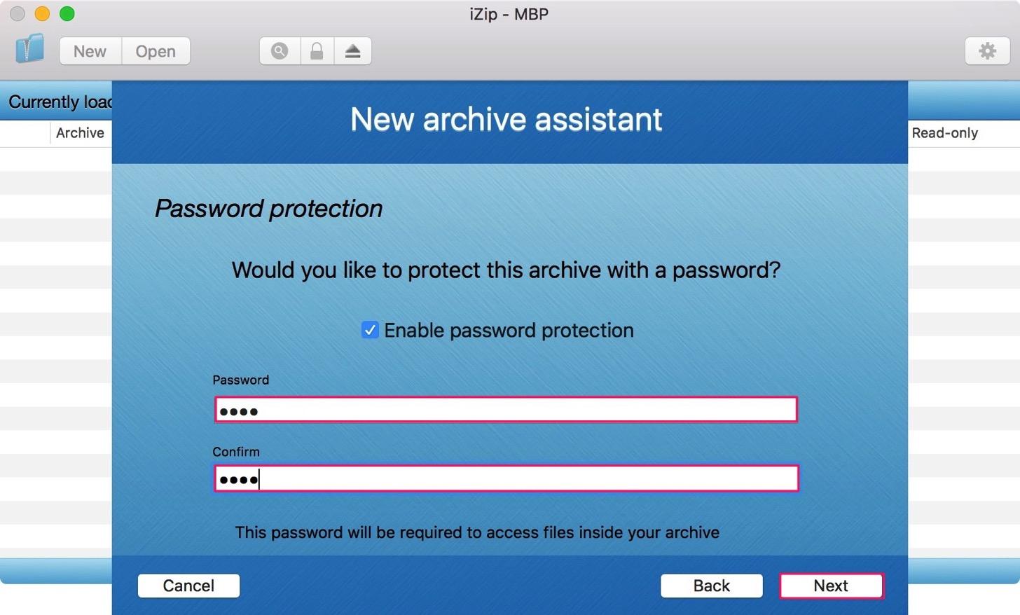 パスワードを設定します。