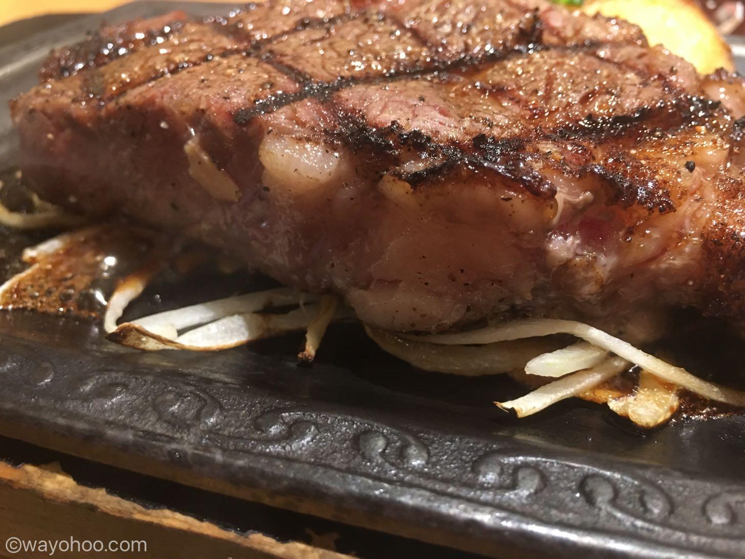さわやかステーキの断面