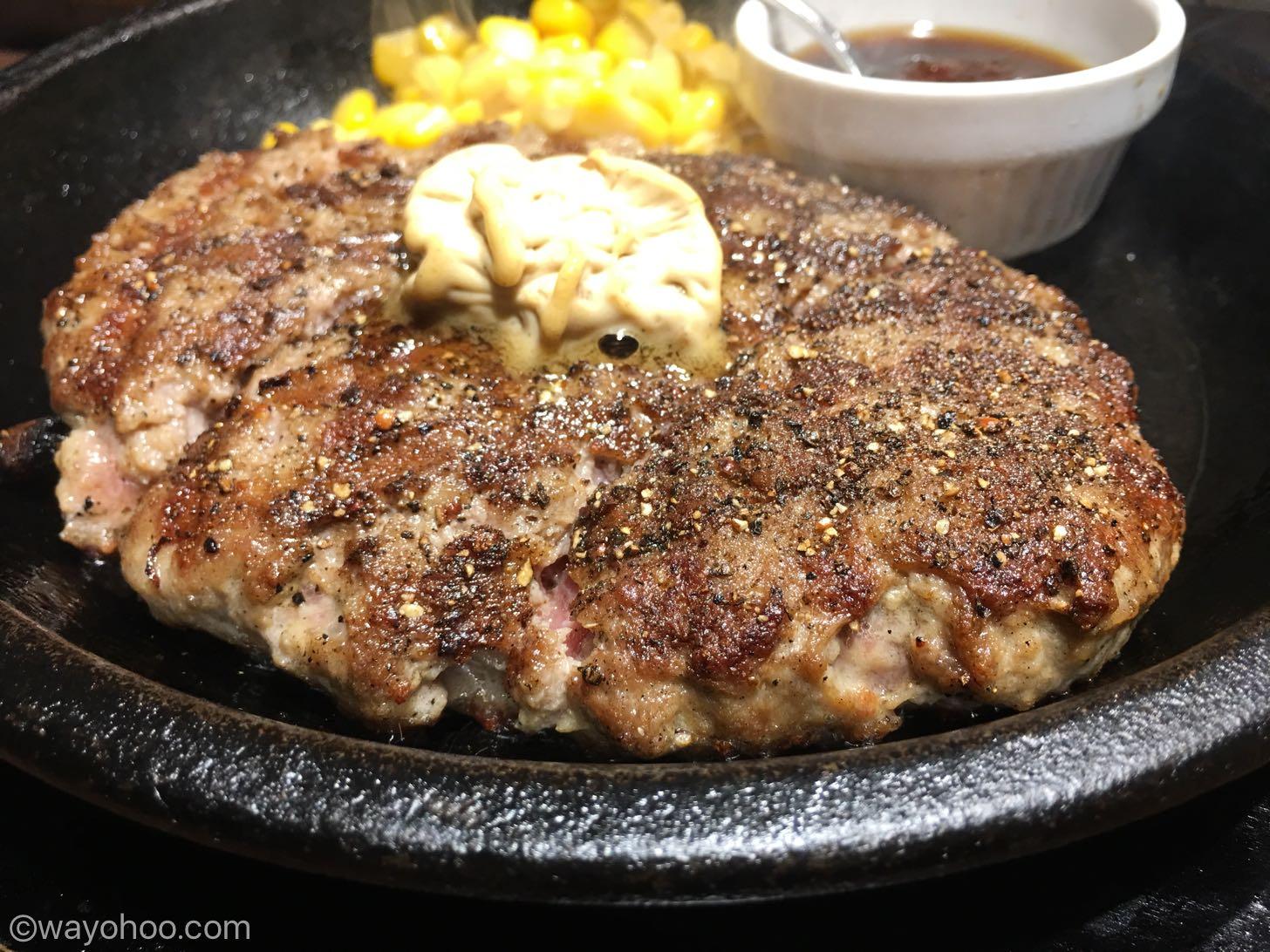 いきなりステーキの「ワイルドハンバーグ」