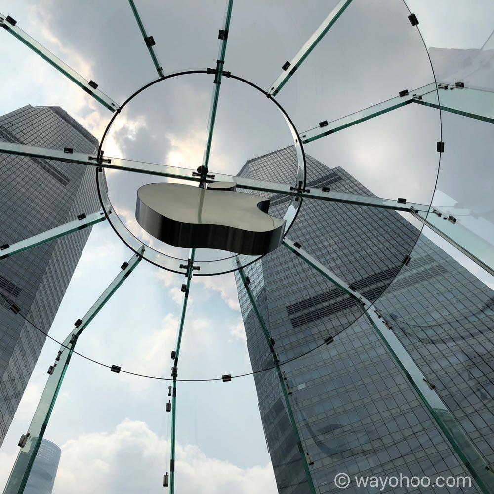 Apple Store上海のアップルロゴ