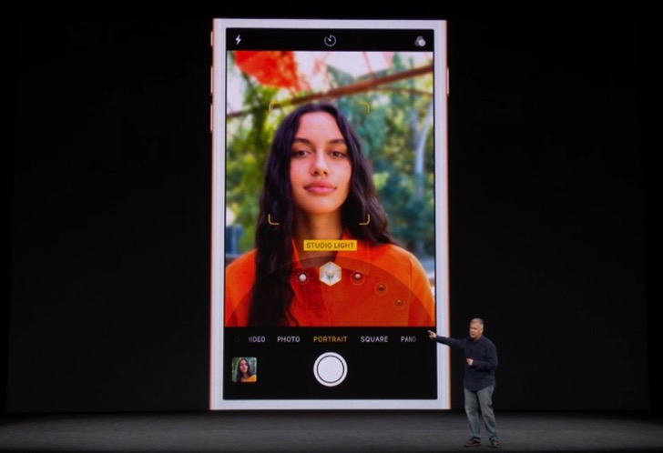 iPhone8のポートレートライティング機能