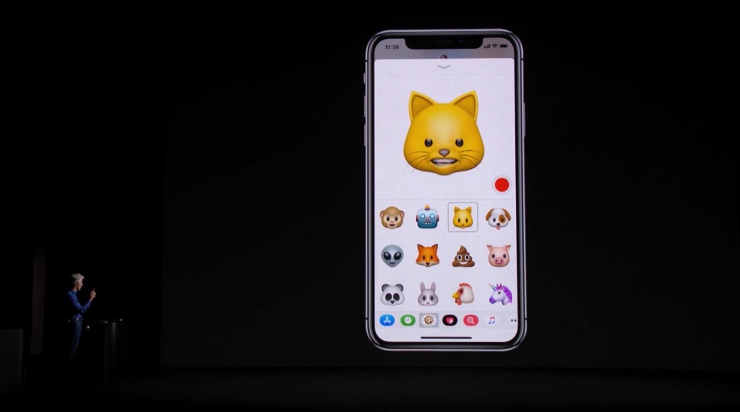 iPhone Xのアニ文字。