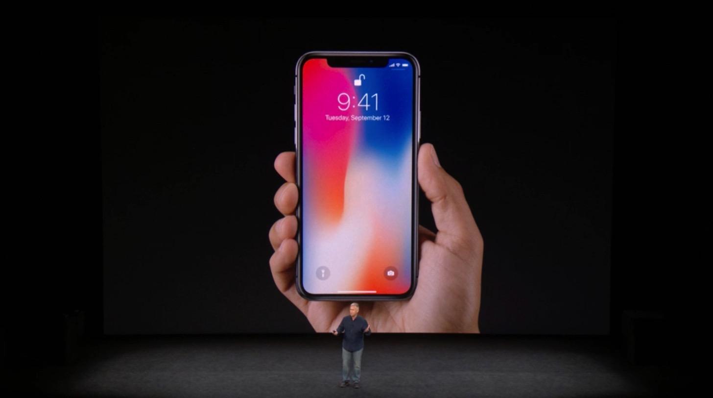 iPhone Xのデザイン。