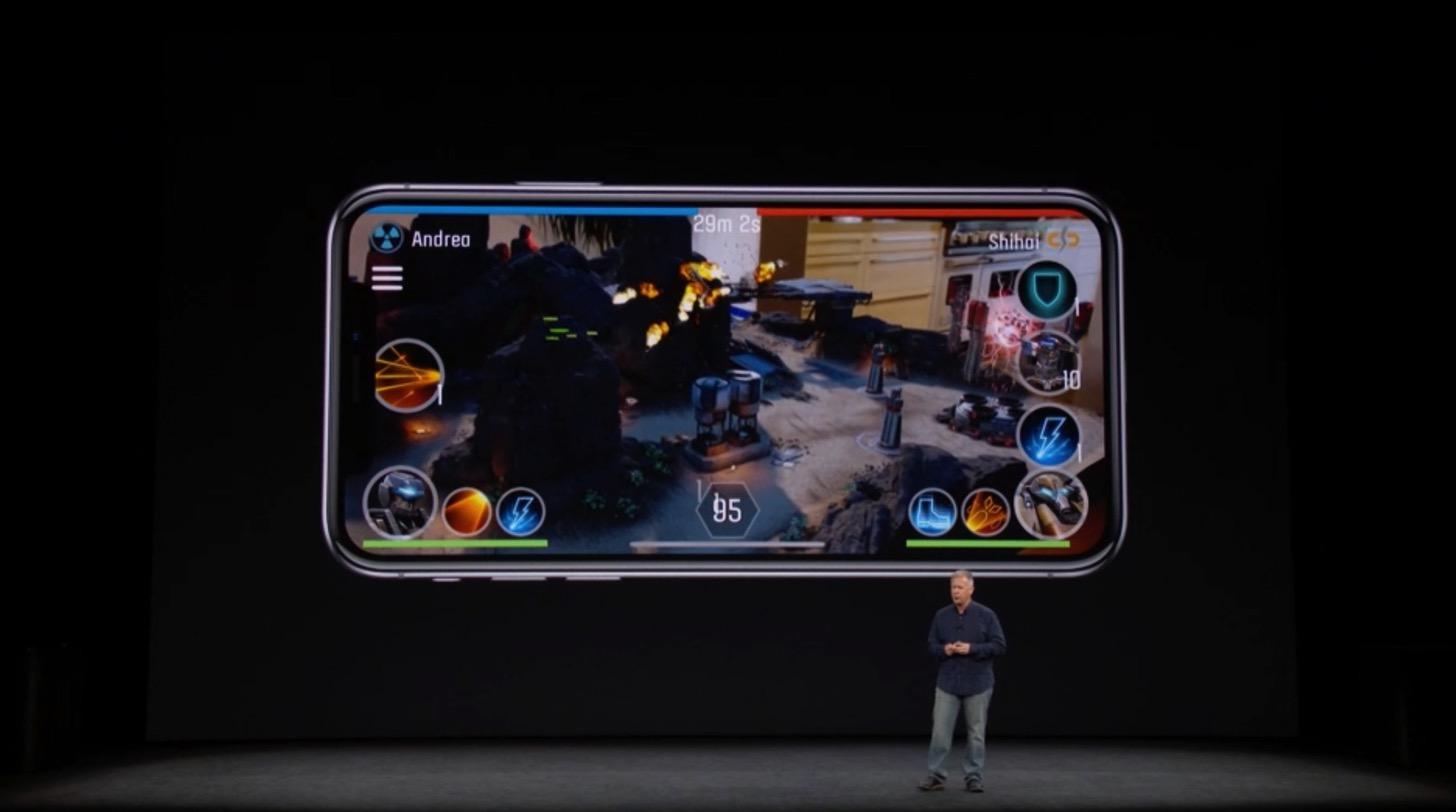 iPhone XのAR(拡張現実)