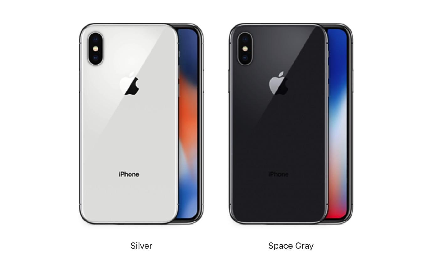 iPhone X。どっちの色にしますか?