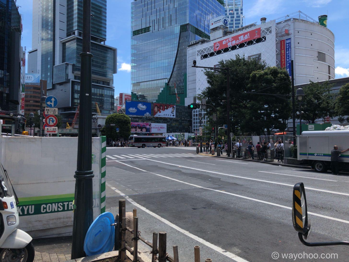 みずほ銀行 渋谷中央支店の前の景色